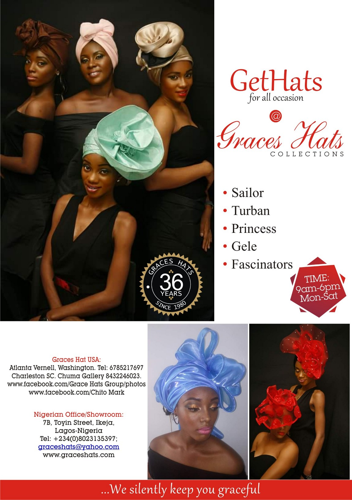 GRACES hATS aDVERT.
